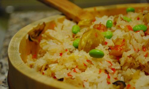 海老と栗のちらし寿司